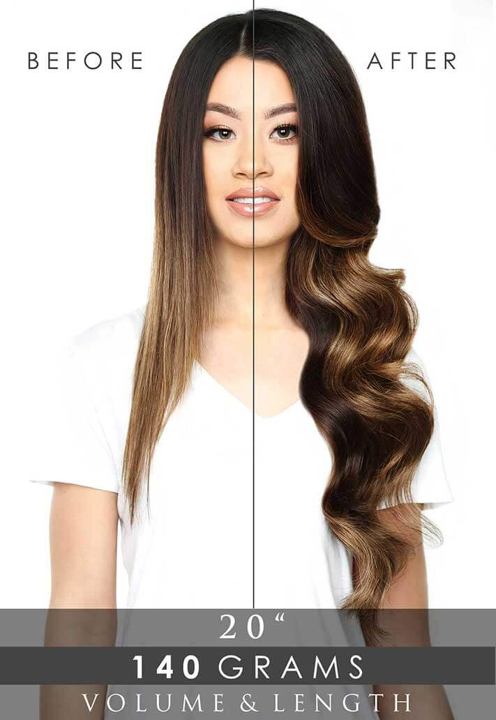 Deluxe Clip-In Hair Extensions 20"