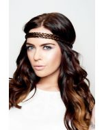 Embellished Braid Headband - Hot Toffee 4