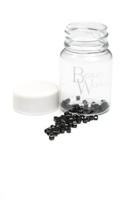 Aluminium Micro Rings Black 100 Pieces