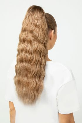 "20"" Invisi®-Ponytail Beach Wave - Pure Platinum"