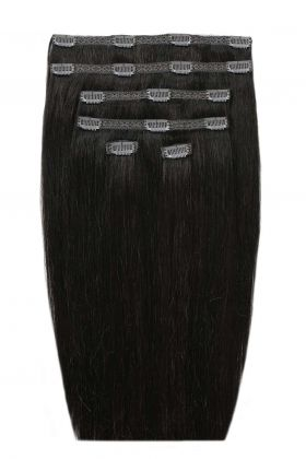 "18"" Double Hair Set - Natural Black 1a"