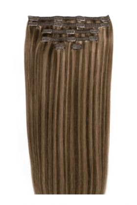 """22"""" Double Hair Set Ashed Brown"""