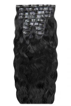 "18"" Beach Wave Double Hair Set - Jet Set Black"