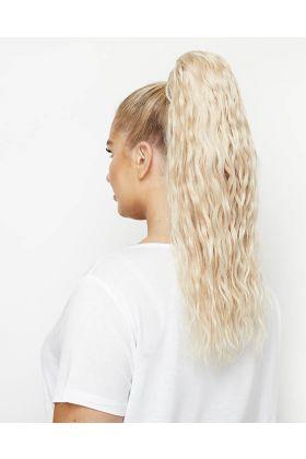 """20"""" Invisi®-Ponytail Beach Wave - Pure Platinum"""