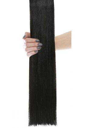 "24"" Gold Double Weft - Natural Black 1A"