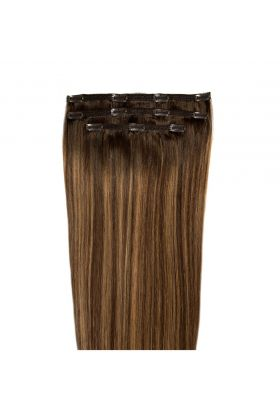 "18"" Deluxe Remy Instant Clip-In  Extensions - Brond'mbre"