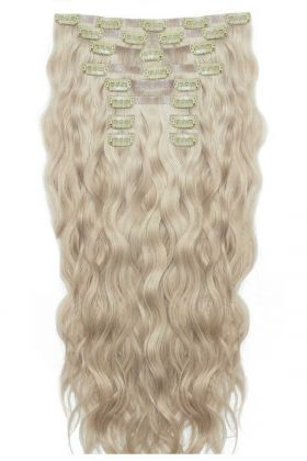 "22"" Beach Wave Double Hair Set - Champagne Blonde"