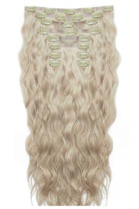 "22"" Beach Wave Double Hair Set - Champagne Blonde"