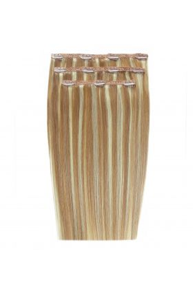 """20"""" Deluxe Remy Instant Clip-In Extensions - California Blonde 613/16"""