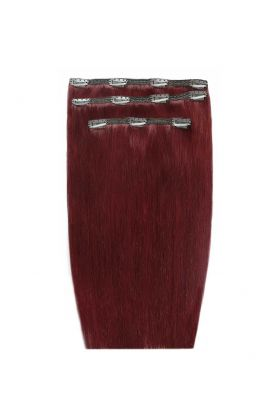 """18"""" Deluxe Remy Instant Clip-In Extensions - Cherry 530"""