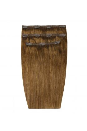 """20"""" Deluxe Remy Instant Clip-In Extensions - Caramel 6"""