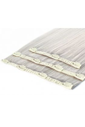 """18"""" Deluxe Remy Instant Clip-In Extensions - Silver"""