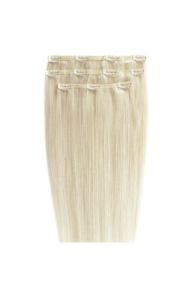 """18"""" Deluxe Remy Instant Clip-In Extensions - Vintage Blonde 60"""