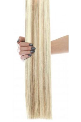 "20"" Celebrity Choice - Weft Hair Extensions - Champagne Blonde 613/18"