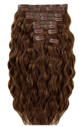 "22"" Beach Wave Double Hair Set - Hot Toffee"