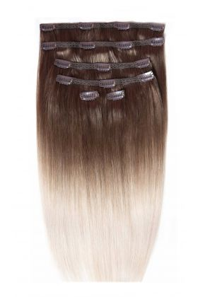 "18"" Double Hair Set #High Contrast Ash"