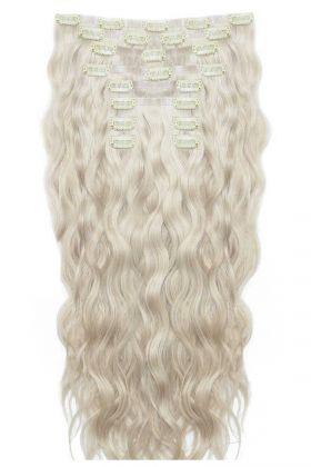 """18"""" Beach Wave Double Hair Set - Iced Blonde"""