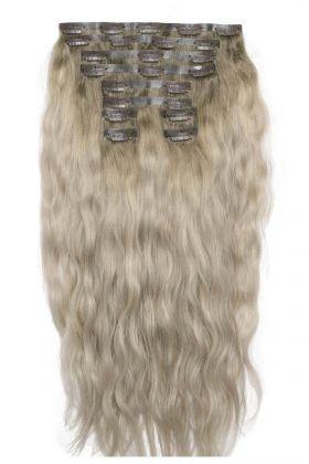 """18"""" Beach Wave Double Hair Set - Scandinavian Blonde"""