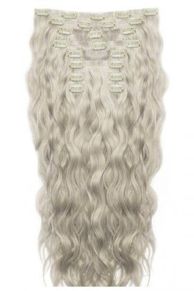 "18"" Beach Wave Double Hair Set - Silver"