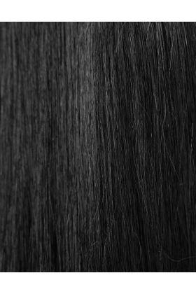100% Remy Colour Swatch Jetset Black 1