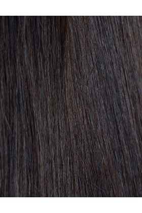 100% Remy Colour Swatch Ebony 1B