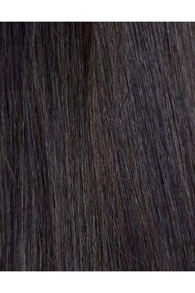 100% Remy Colour Swatch Ebony 1B