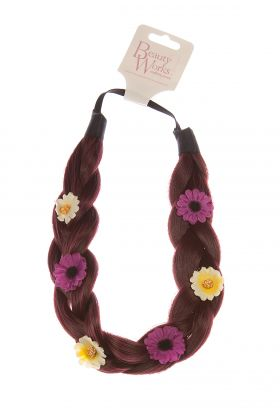 Flower Braid Headband - Cherry 530