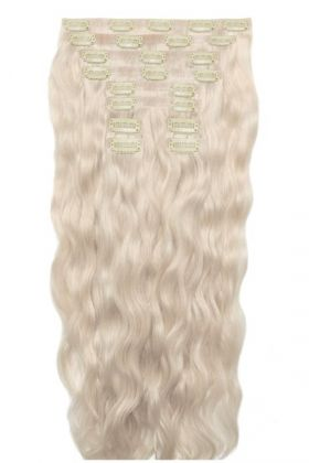 "18"" Beach Wave Double Hair Set - Pure Platinum"