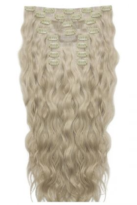 "18"" Beach Wave Double Hair Set - Barley Blonde"