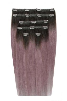 "22"" Double Hair Set - Metallic Mauve"