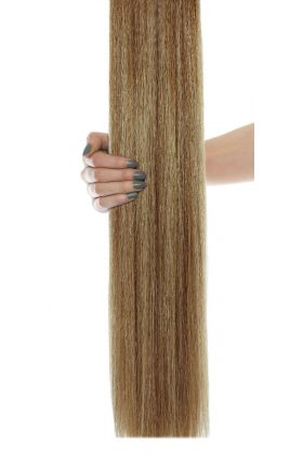 "18"" Gold Double Weft Hair Extensions - Colour Caramelized"