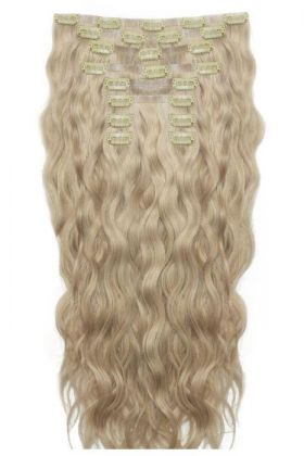 "18"" Beach Wave Double Hair Set - Bohemian Blonde"