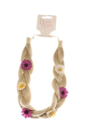 Flower Braided Headband - LA Blonde 613/24