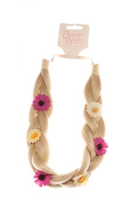 Flower Braid Headband - Rock Chic Blonde 613