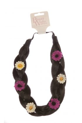 Flower Braid Headband - Raven 2