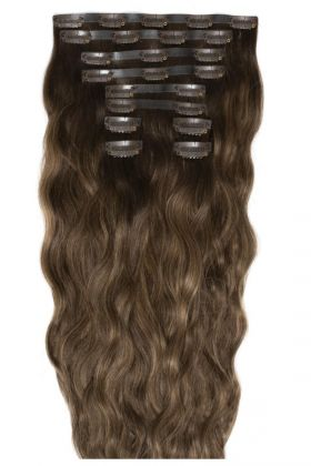 "18"" Beach Wave Double Hair Set - Brond'mbre"