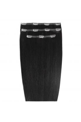 "16"" Deluxe Remy Instant Clip-In Extensions - Jet Set Black 1"