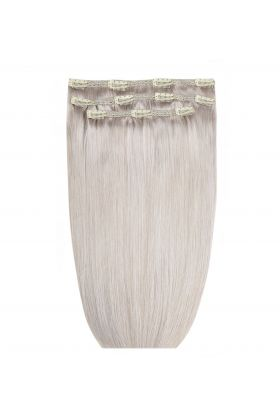 "16"" Deluxe Remy Instant Clip-In Extensions - Silver"