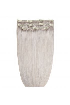 "18"" Deluxe Remy Instant Clip-In Extensions - Silver"