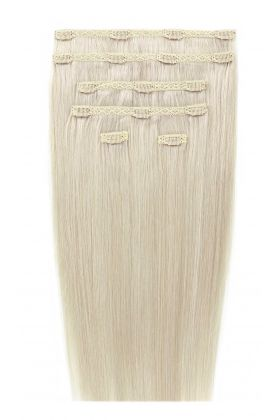 "18"" Double Hair Set - Pure Platinum 60a"