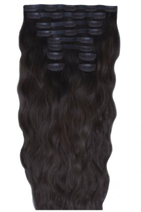 "18"" Beach Wave Double Hair Set - Ebony"