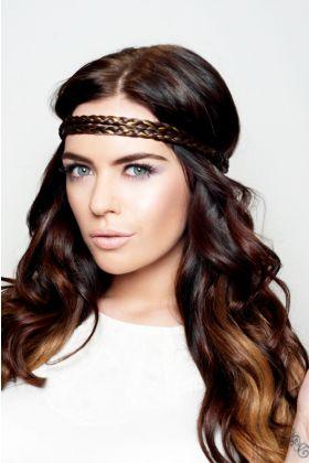 Embellished Braid Headband - Hot Toffee 4