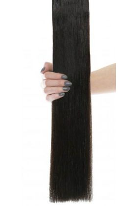 "20"" Celebrity Choice - Weft Hair Extensions - Ebony 1b"