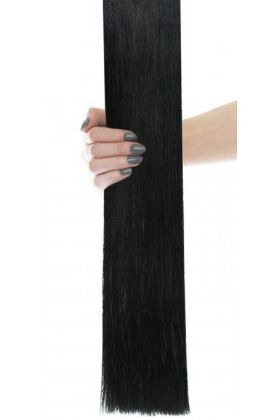 "20"" Celebrity Choice - Weft Hair Extensions - Jet Set Black 1"