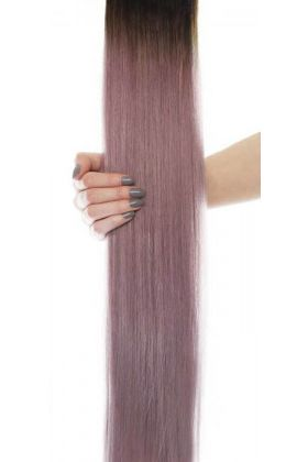 "20"" Gold Double Weft - Metallic Mauve"