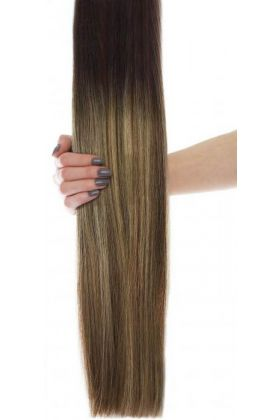"20"" Celebrity Choice - Weft Hair Extensions - Mocha Melt"
