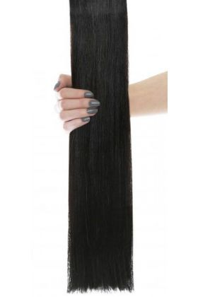 "18"" Gold Double Weft - Natural Black 1A"