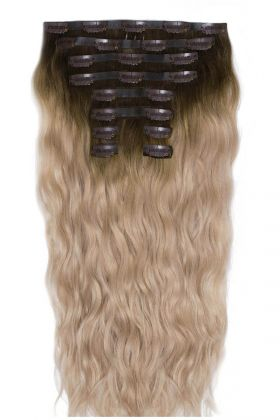 "22"" Beach Wave Double Hair Set - High Contrast Warm"