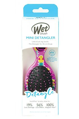 WetBrush Mini Detangler Happy Hair - Smiley Pineapple