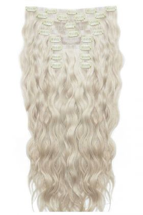 "18"" Beach Wave Double Hair Set - Iced Blonde"
